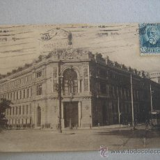 Postales: MADRID. BANCO DE ESPAÑA. CIRCULADA, ESCRITA Y CON SELLO DE 15 CTS DE LA II REP (19-I-32). Lote 26270592