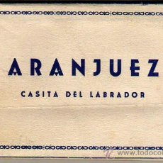 Postales: BLOC DE POSTALES FOTOGRAFICAS ARANJUEZ CASITA DEL LABRADOR -DE HELIOP ARTISTICA ESPAÑOLA. Lote 26321300