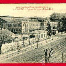Postales: MADRID, ESTACION DEL NORTE Y PALACIO REAL, P60334. Lote 26544017