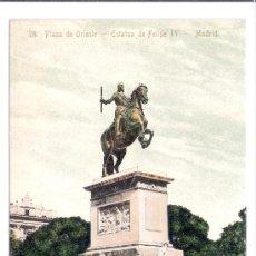 Postales: MADRID-28- PLAZA DE ORIENTE - ESTATUA DE FELIPE IV- ED. MADRID EXPRESS- ANTERIOR A 1904- (5848). Lote 26666862