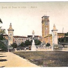 Postales: MADRID-18- RETIRO- PUERTA DEL PASEO DE COCHES - ED. MADRID EXPRESS- ANTERIOR A 1904- (5854). Lote 26667138