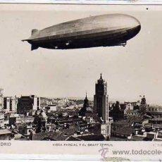 Postales: MADRID. Nº33. VISTA PARCIAL Y EL GRAFF ZEPELIN. L. ROISIN. ACABADO FOTOGRAFICO. SIN CIRCULAR.. Lote 26678645
