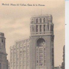 Postales: MADRID. PLAZA DEL CALLAO. CASA DE LA PRENSA. Lote 26688998