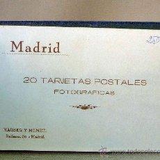 Postales: ALBUM, 20 POSTALES, MADRID, ENCUADERNADO, LIBRILLO, HAUSER Y MENET, COMPLETO, EN . Lote 26837936