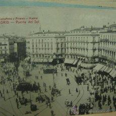 Postales: MADRID PUERTA DEL SOL CIRCULADA EN 1914. Lote 27034193