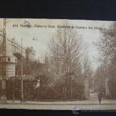 """Postales: """"MADRID. PALACIO REAL..."""". CIRCULADA, ESCRITA (TEXTO CURIOSO) Y SELLO15 CTS ALFONSO XIII (27-IV-22). Lote 27205547"""