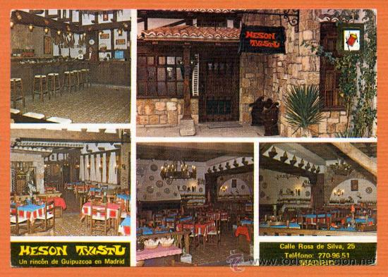 MESON TXISTU - MADRID - COCINA TIPICA VASCA - ED. DOMINGUEZ (Postales - España - Madrid Moderna (desde 1940))