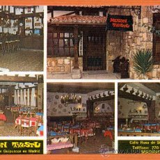 Postales: MESON TXISTU - MADRID - COCINA TIPICA VASCA - ED. DOMINGUEZ. Lote 27310126