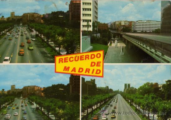 MADRID Nº 347 PASEO DE LA CASTELLANA ESCRITA CIRCULADA SELLO J.L. GALLEGOS (Postales - España - Madrid Moderna (desde 1940))