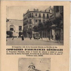 Postales: MADRID.- COMPAGNIES D´ASSSURANCES GENERALES. Lote 27535153