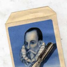 Postales: MIGUEL DE CERVANTES SAAVEDRA. ALCALÁ DE HENARES MADRID. PLUMAS CERVANTINAS. SOBRE ORIGINAL.. Lote 27940835