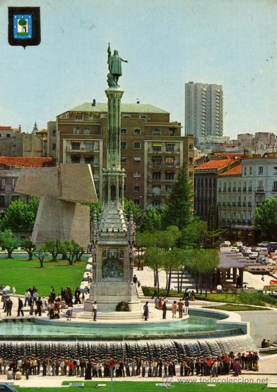 MADRID Nº 227 PLAZA DE LA HISPANIDAD (COLÓN) ESCRITA CIRCULADA SELLO DOMINGUEZ (Postales - España - Madrid Moderna (desde 1940))