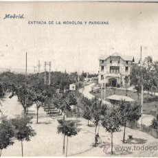 Postales: POSTAL MADRID, ENTRADA A LA MONCLOA Y PARISIANA. Lote 28161707