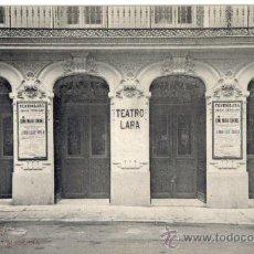 Postales: POSTAL MADRID, PORTADA DEL ANTIGUO TEATRO LARA DE LA CALLE CORREDERA BAJA. Lote 28161792