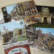 Postales: LOTE 5 POSTALES ANTIGUAS MADRID - SÓLO 1 CIRCULADA. Lote 28363961