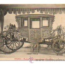 Postales: MADRID. REALES CABALLERIZAS. CARROZA DE EBANO. . Lote 28429833