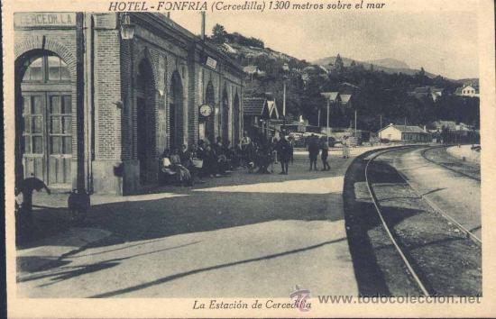CERCEDILLA (MADRID).- LA ESTACIÓN DE CERCEDILLA (Postales - España - Comunidad de Madrid Antigua (hasta 1939))