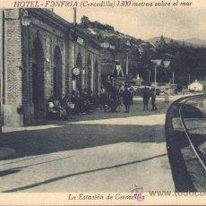 Postales: CERCEDILLA (MADRID).- LA ESTACIÓN DE CERCEDILLA. Lote 28423607