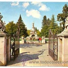 Postales: 7-ESP829. POSTAL ARANJUEZ. ENTRADA AL JARDÍN DE LA ISLA. FUENTE DE HERCULES. Lote 28446390