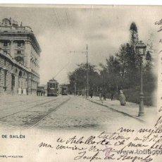 Postales: MADRID, CALLE DE BAILEN, CIRCULADA EN 1900 CON SELLO ALFONSO XIII PELON. . Lote 28604619
