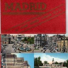Postales: BLOC CON 10 POSTALES DE MADRID EN ACORDEÓN SUPER-COLOR 10X15, DEDICATORIA DE FECHA 12-XII-56, . Lote 28634339