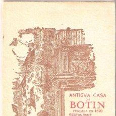 Postales: MADRID- ANTIGUA CASA BOTIN - BLOCK COMPLETO DE 12 POST .+ EXPL.+ MAPA VER FOTOS ADICIONALES - (B-54). Lote 28941744
