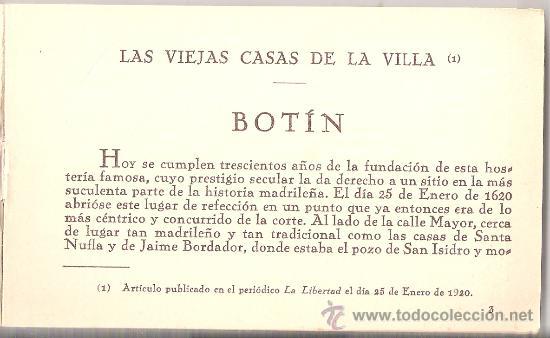 Postales: MADRID- ANTIGUA CASA BOTIN - BLOCK COMPLETO DE 12 POST .+ EXPL.+ MAPA VER FOTOS ADICIONALES - (B-54) - Foto 14 - 28941744