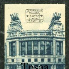 Postales: POSTAL MADRID **BANCO DE BILBAO** TRANVIA GRAFOS CIRCULADA . Lote 28968176