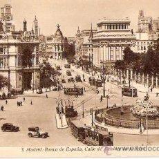 Postales: TARJETA POSTAL. MADRID. Nº 3. BANCO DE ESPAÑA CALLE DE ALCALA Y CIBELES. HUECOG. KALLMEYER Y GAUTIER. Lote 29125413