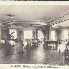 Postales: MADRID.- HOTEL NACIONAL- RESTAURANT. Lote 29211095