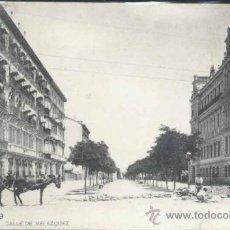 Postales: MADRID.- CALLE VELAZQUEZ. Lote 29345558