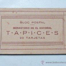 Postales: TAPICES / EL ESCORIAL - LIBRILLO BLOC 20 POSTALES. Lote 29566160