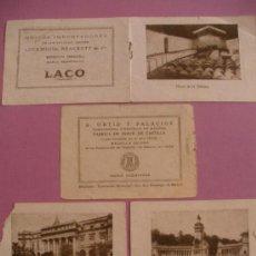 Postales: PUBLICIDAD AÑOS 20-30, DE JABON DE CASTILLA Y LACO,CON FOTOS DE LA FABRICA Y LA CIUDAD DE MADRID.. Lote 29597682