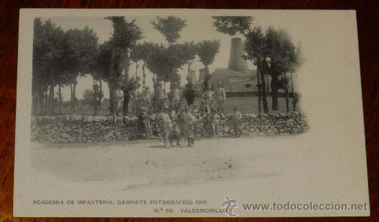 ANTIGUA POSTAL DE VALDEMORILLO (MADRID), ACADEMIA DE INFANTERIA, GABINETE FOTOGRAFICO 1910 - Nº 50, (Postales - España - Madrid Moderna (desde 1940))
