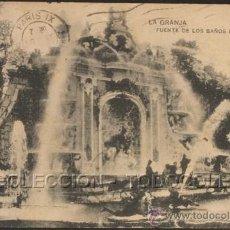 Postales: POSTAL MADRID LA GRANJA FUENTE DE LOS BAÑOS DE DIANA . HAUSER Y MENET CA AÑO 1920 .. Lote 30245767