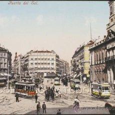 Postales: POSTAL MADRID PUERTA DEL SOL . PURGER & CO. CA AÑO 1900 .. Lote 30245833