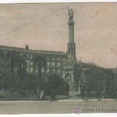 Postales: ANTIGUA POSTAL DE MADRID. MONUMENTO A COLÓN. CIRCULADA EN 1935. Lote 29890125