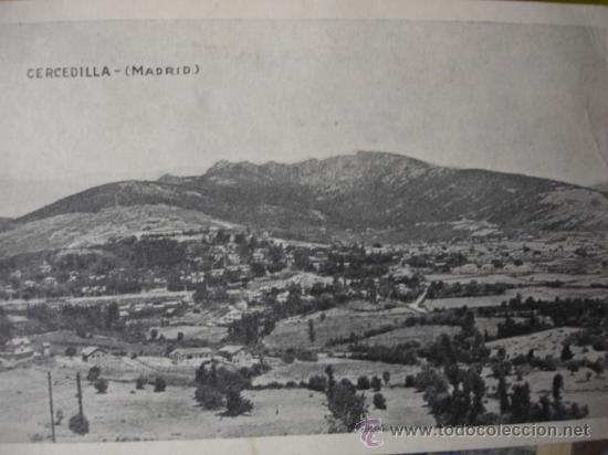 CERCEDILLA.MADRID (Postales - España - Comunidad de Madrid Antigua (hasta 1939))
