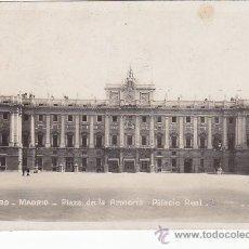Postales: AÑO 1925: PLAZA DE LA ARMERIA PALACIO REAL. BONITA POSTAL 139 SOCIEDAD GENERAL ESPAÑOLA A POLONIA.. Lote 30247803