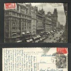 Postales: POSTAL CIRCULADA 1952 MADRID AVDA. JOSÉ ANTONIO. Lote 30317123