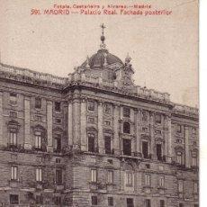 Postales: Nº 11628 MADRID PALACIO REAL FACHADA POSTERIOR. Lote 30327421