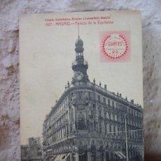 Postales: POSTAL DE MADRID - PALACIO DE LA EQUITATIVA - ALVAREZ Y LEVENFELD - FELISA RAMIREZ GUANTES. Lote 30475865