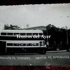 Postales: ANTIGUA FOTO POSTAL DE SERVICIO DE AUTOBUSES. DE LA SOCIEDAD MADRILEÑA DE TRANVIAS, NO CIRCULADA, FO. Lote 30514446