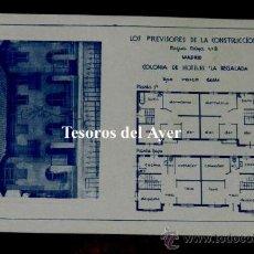 Postales: ANTIGUA POSTAL DE LA COLONIA DE HOTELES LA REGALADA, LOS PREVISORES DE LA CONSTRUCCION S.A., MADRID,. Lote 30514536