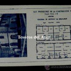 Postales: ANTIGUA POSTAL DE LA COLONIA DE HOTELES LA REGALADA, LOS PREVISORES DE LA CONSTRUCCION S.A., MADRID,. Lote 30514547