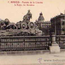Postales: MADRID Nº 7 FUENTE DE LA CIBELES L. ROISÍN FOTOGRAFO SIN CIRCULAR . Lote 30528411
