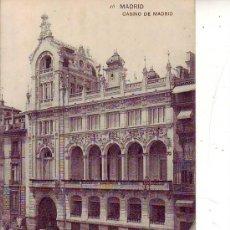 Postales: MADRID - CASINO DE MADRID. Lote 30531020
