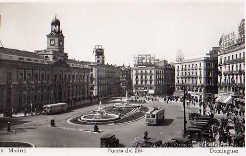 MADRID Nº 74 PUERTA DEL SOL DOMINGUEZ SIN CIRCULAR (Postales - España - Comunidad de Madrid Antigua (hasta 1939))