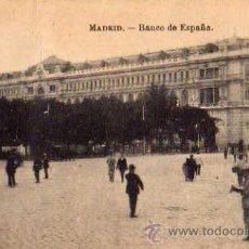 Postales: MADRID BANCO DE ESPAÑA CIRCULADA EN 1919 SELLO FOTOTIPIA J. ROIG . Lote 30541558