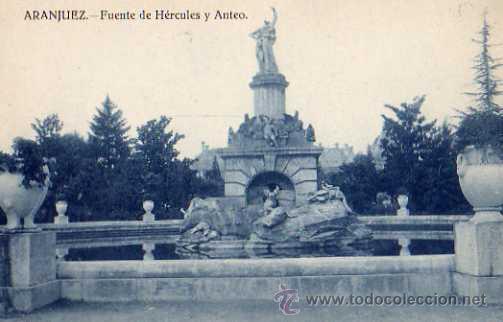 ARANJUEZ FUENTE DEL JARDÍN DE LA ISLA ORAPOS MADRID SIN CIRCULAR (Postales - España - Comunidad de Madrid Antigua (hasta 1939))